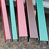 Планка на забор из профнастила, Заборная планка, декоративная П-образная планка