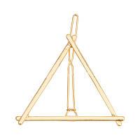 Заколка для волос треугольник золото, фото 1