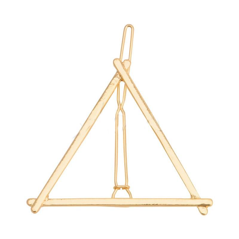 Заколка для волос треугольник золото