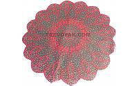 """Салфетки для цветов """"Снежинка красный"""" (уп.100шт)50см"""