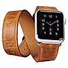 Ремешок для Apple Watch Classic Genuine Leather Quadri-Watchband Series-42mm оранжевый