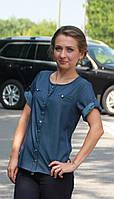 Стильная молодежная рубашка (блузка) джинс