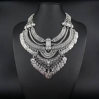 """Массивное колье """"Богема"""" (цвет: серебристый/золотой) подвеска, ожерелье"""