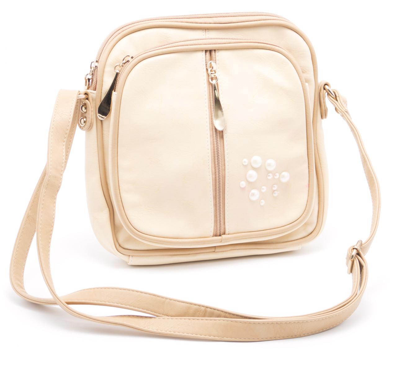 Бежевая женская сумка Б/Н art. 7152