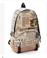 Рюкзак, Газета , стильный.