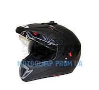 Шлем кроссовый (мотард) Ataki FF103 Solid черный матовый