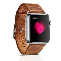 Ремешок для Apple Watch Classic Genuine Leather Series Watchband-38mm оранжевый, фото 1