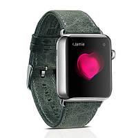 Ремешок для Apple Watch Classic Genuine Leather Series Watchband-38mm зеленый