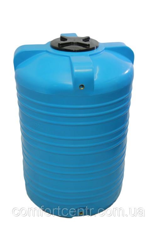 Пластиковая вертикальная емкость для хранения воды V-1000 на 1000 литров