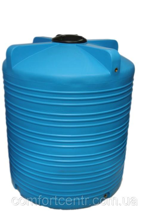 Вертикальна пластикова ємність для зберігання води V-5000 5000 літрів