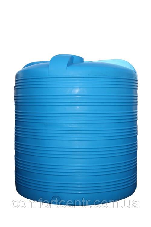 Пластиковая вертикальная емкость для хранения воды V-8000 на 8000 литров