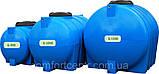 Пластиковая горизонтальная емкость на 1500 литров G-1500 для хранения гсм, фото 4