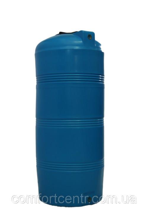 Пластиковая вертикальная емкость V-320 на 320 литров для хранения гсм