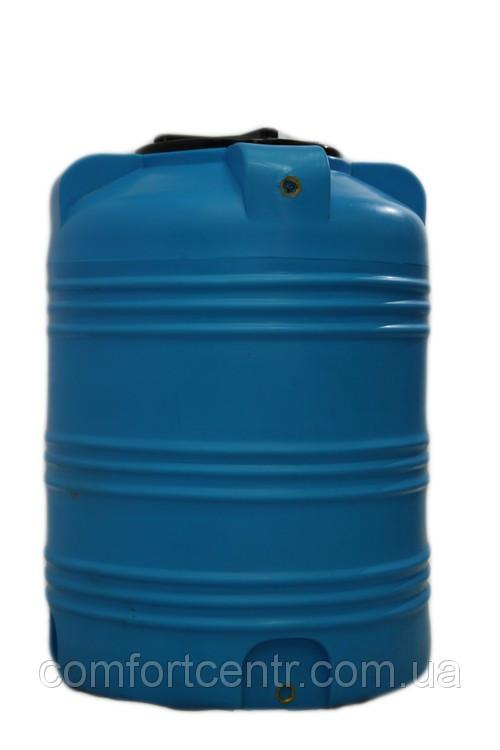 Пластиковая вертикальная емкость V-350 на 350 литров для хранения гсм