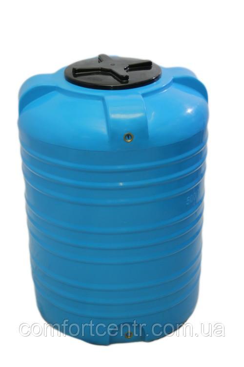 Вертикальна пластикова ємність для зберігання гсм V-1000 на 1000 літрів