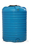 Вертикальна пластикова ємність для зберігання гсм V-1000 на 1000 літрів, фото 2