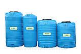 Вертикальна пластикова ємність для зберігання гсм V-1000 на 1000 літрів, фото 4