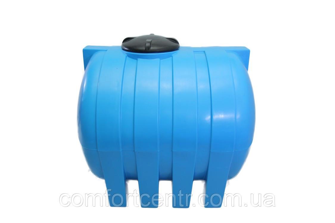 Пластиковая горизонтальная емкость на 1500 литров G-1500 для пищевой промышленности
