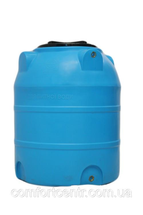 Пластиковая вертикальная емкость для пищевой промышленности V-300 на 300 литров