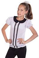 Блуза школьная для девочки с коротким рукавом