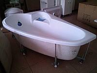 Ванна акриловая Тритон Пеарл-Шелл 1600х1040х605 правая (ванна + каркас + лиц.экр. + слив-перелив)