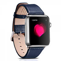 Ремешок для Apple Watch Luxury Genuine Leather Series Watchband-38mm синий, фото 1