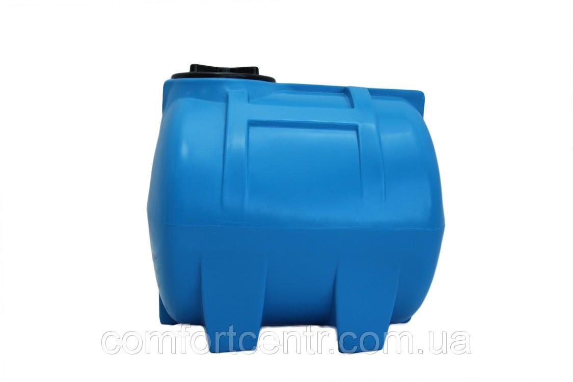 Пластиковая горизонтальная емкость на 150 литров G-150 для хранения токсических веществ