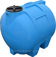 Пластиковая горизонтальная емкость на 350 литров G-350 для хранения токсических веществ
