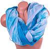 Нежный женский шарф из полиэстера 156 на 106 см BAOSIDI (БАОСИДИ) DS906-247-1 бирюзовый