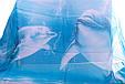 Нежный женский шарф из полиэстера 156 на 106 см BAOSIDI (БАОСИДИ) DS906-247-1 бирюзовый, фото 3