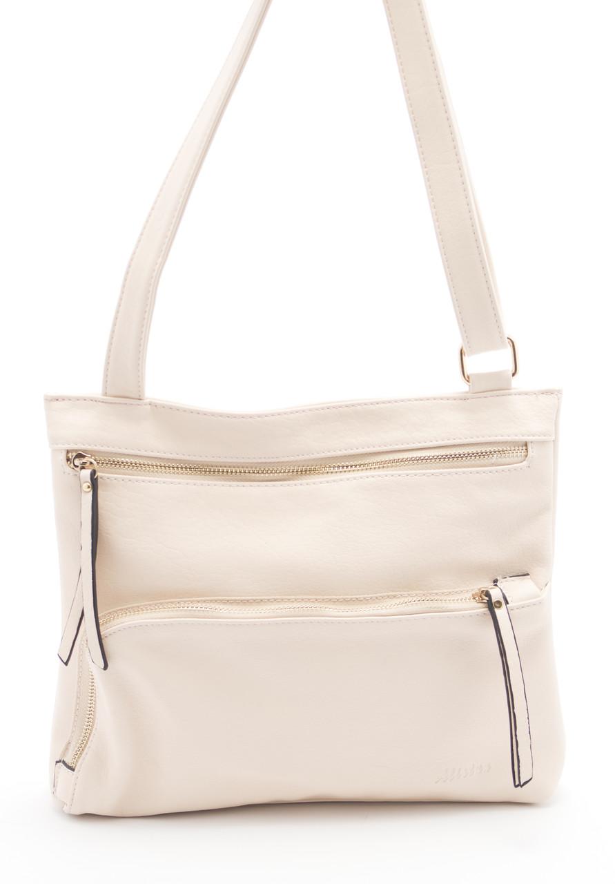 Бежевая женская сумка ALISTUN art. B38