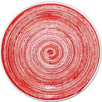 Тарелка 19 см Пастель красная