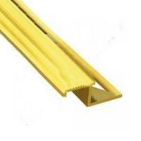 Угол для плитки металлический золото Z-образный 2.7м
