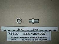 Штуцер патрубка водяного насоса (пр-во ММЗ), 245-1306027