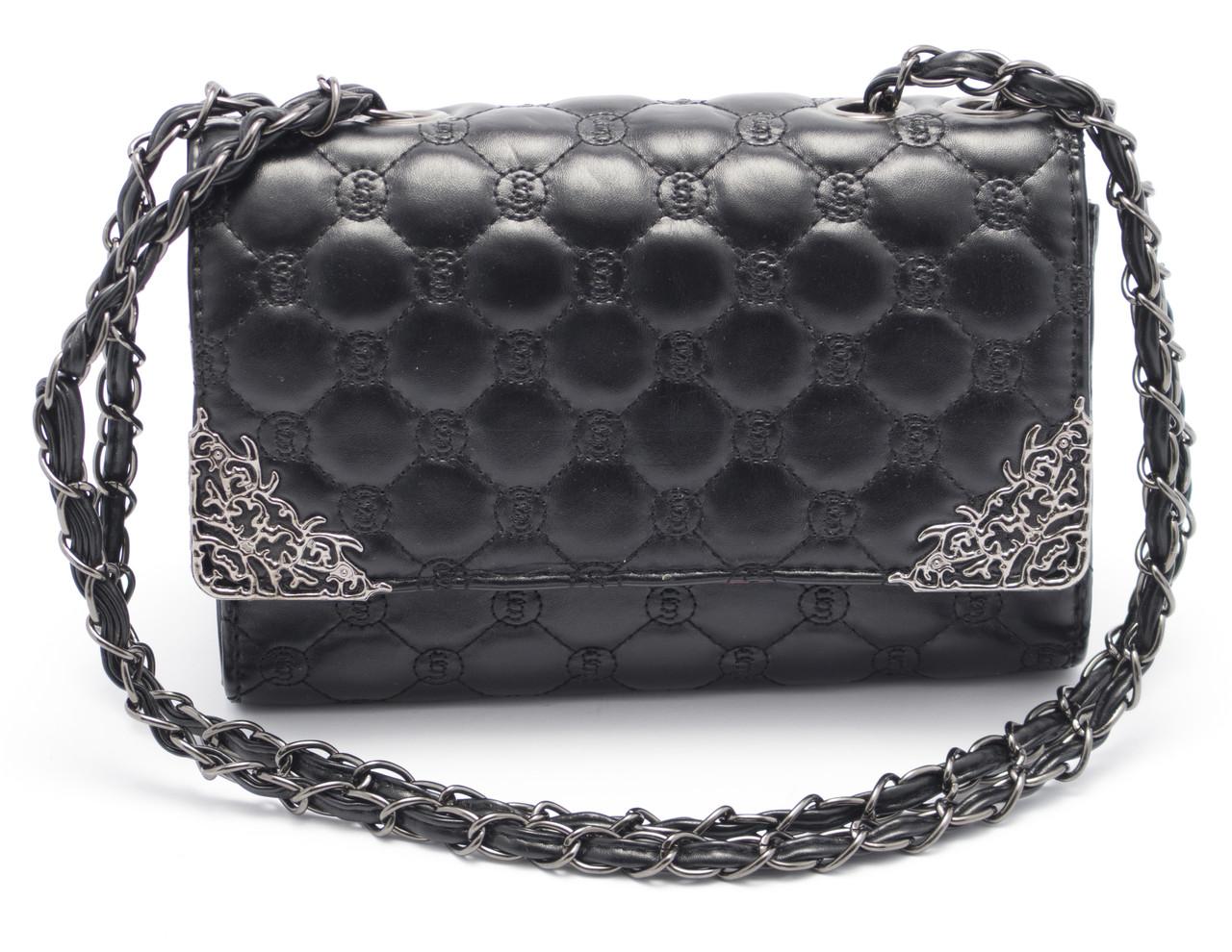 Классная женская черная сумочка Б/Н art. 1002-4