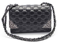 Классная женская черная сумочка Б/Н art. 1002-4, фото 1