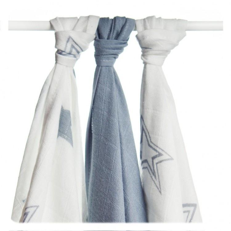 Бамбуковые пеленки набор  XKKO® вмв коллекция Звезда 70x70 3 шт