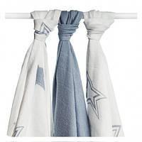 Бамбуковые пеленки набор  XKKO® вмв коллекция Звезда 70x70 3 шт, фото 1