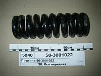 Пружина подвески ПВМ (пр-во Юбана), 50-3001022-А1