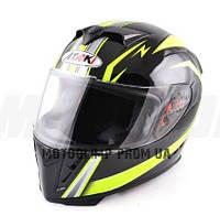 Шлем интеграл Ataki FF311 Trace черный/желт. глянцевый