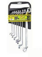 Набор ключей рожковых Alloid НК-2051-8 6х7-20х22 мм