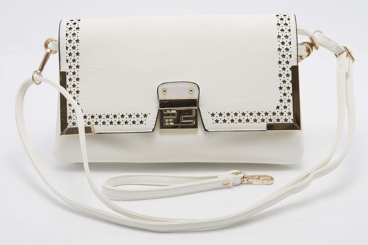 Красивая белая женская сумка LITTLE PIGEON art. 482837-1