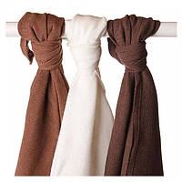 Бамбуковые пеленки XKKO® вмв коллекция Шоколадная 70x70