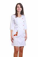 Модный медицинский халат с вышивкой, мед халат для медсестры