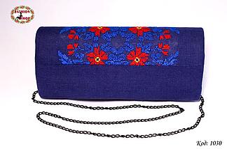 Вышитый синий клатч Загадка, фото 2