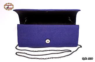 Вышитый синий клатч Загадка, фото 3