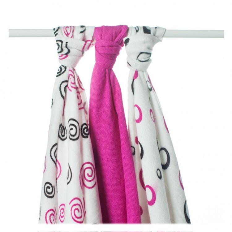 Бамбуковые пеленки XKKO® вмв коллекция Спиральки и шарики 70x70 -