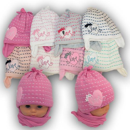 Детский комплект - шапка и шарф для девочки, Grans (Польша), утеплитель Softi Term, A710ST