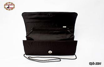 Вышитый чёрный клатч Калина, фото 2