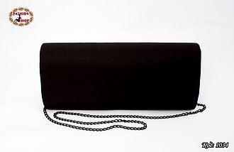 Вышитый чёрный клатч Калина, фото 3